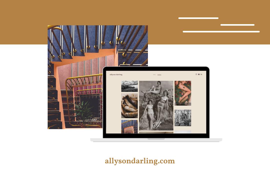 Allyson Darling - Website on Laptop Screen