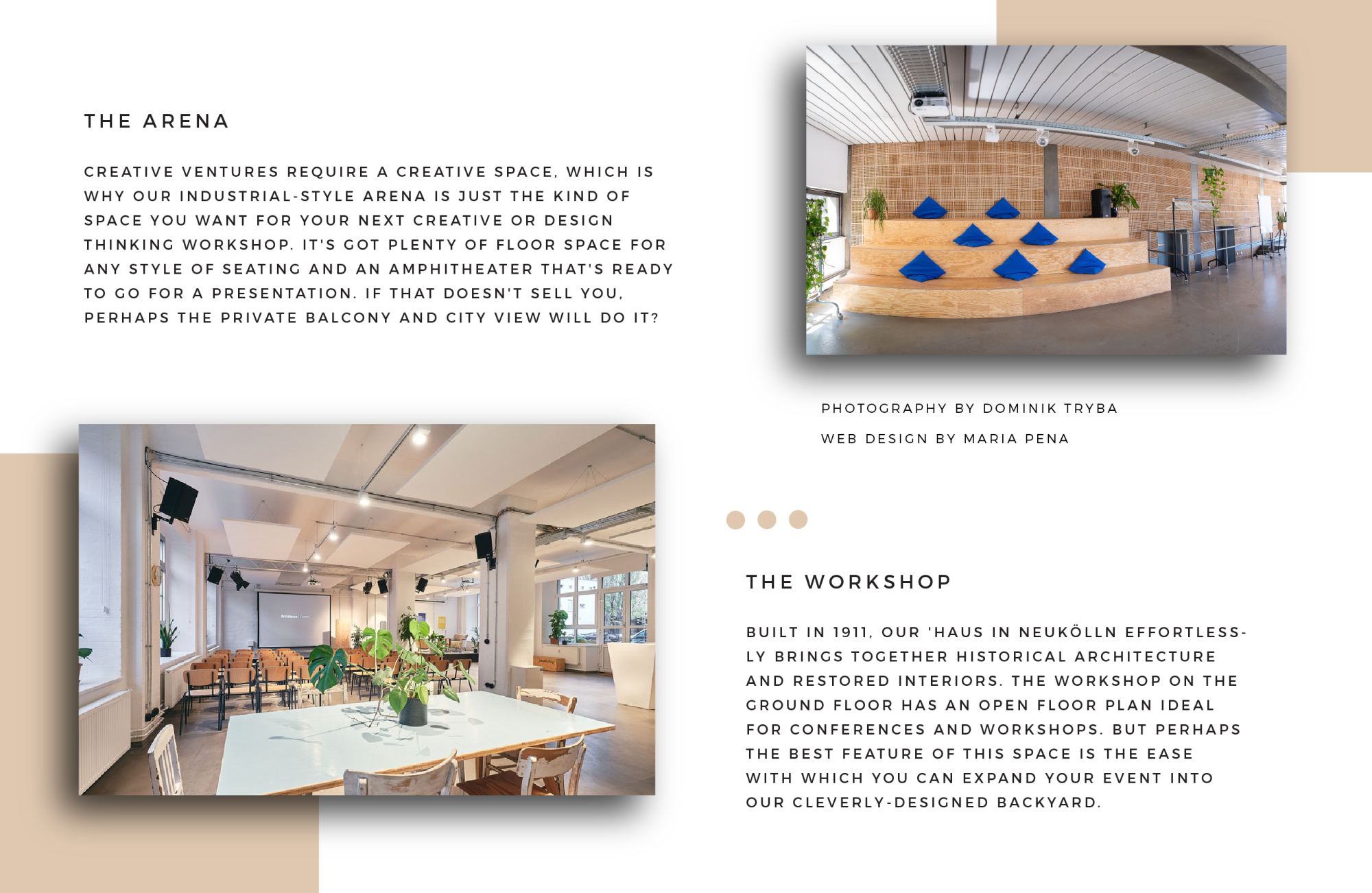 betahaus Events - Featured Text from Arena and Workshop