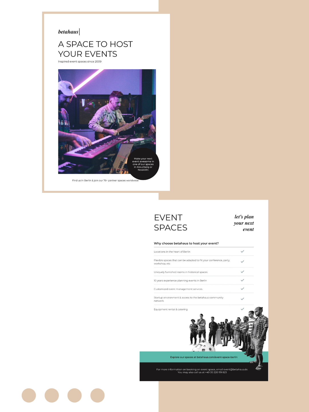 betahaus Events - Event Space Flyer