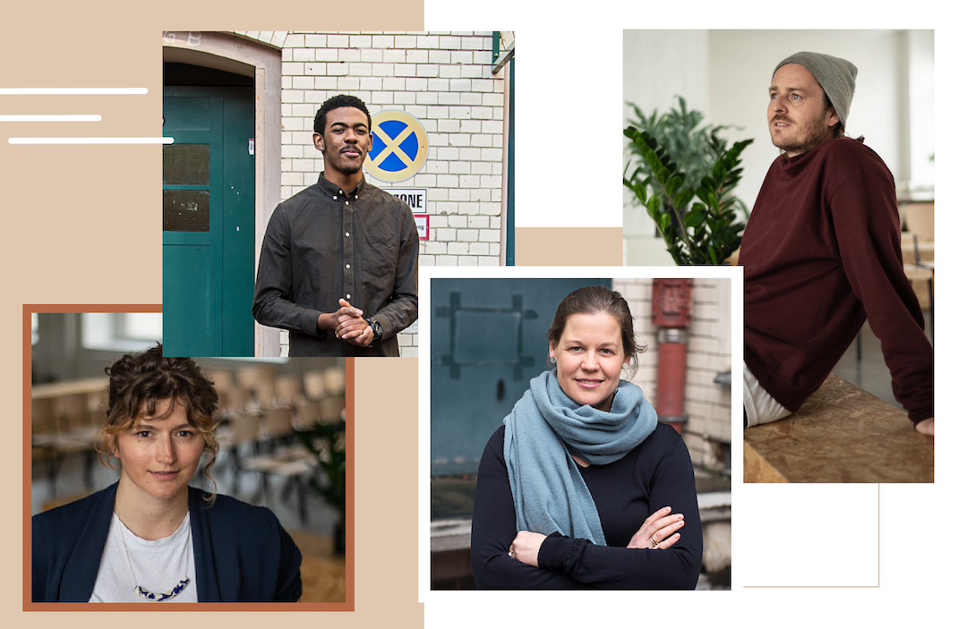 betahaus Headshots - Collage of Iva, Gillord, Madeleine, and Max