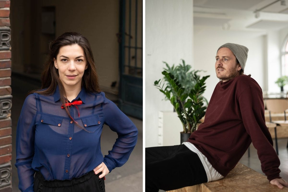 betahaus Headshots - Collage of Katka and Max